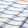 Phil Mickelson Polo - Orange Blue Stripe, fabric swatch closeup