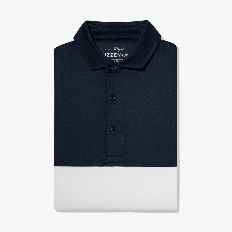 Phil Mickelson Polo - Navy White Color Block, featured product shot