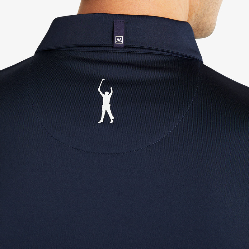 Phil Mickelson Polo - Navy White Color Block, lifestyle/model