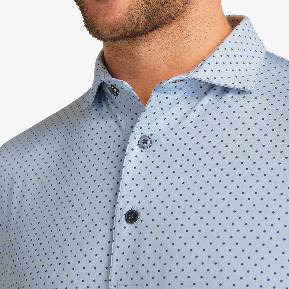 Phil Mickelson Polo - Blue Heather Dot Print, lifestyle/model photo