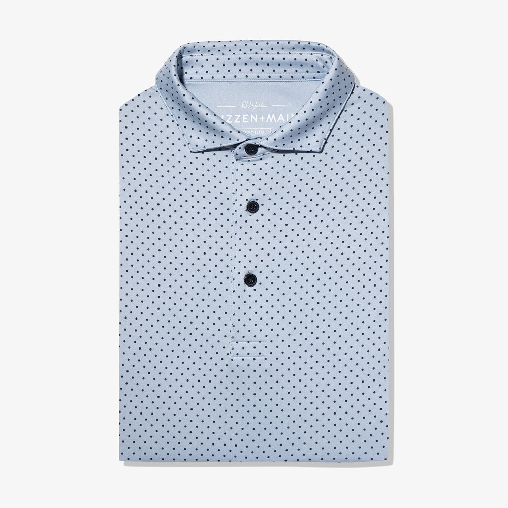 Phil Mickelson Polo - Blue Heather Dot Print, featured product shot