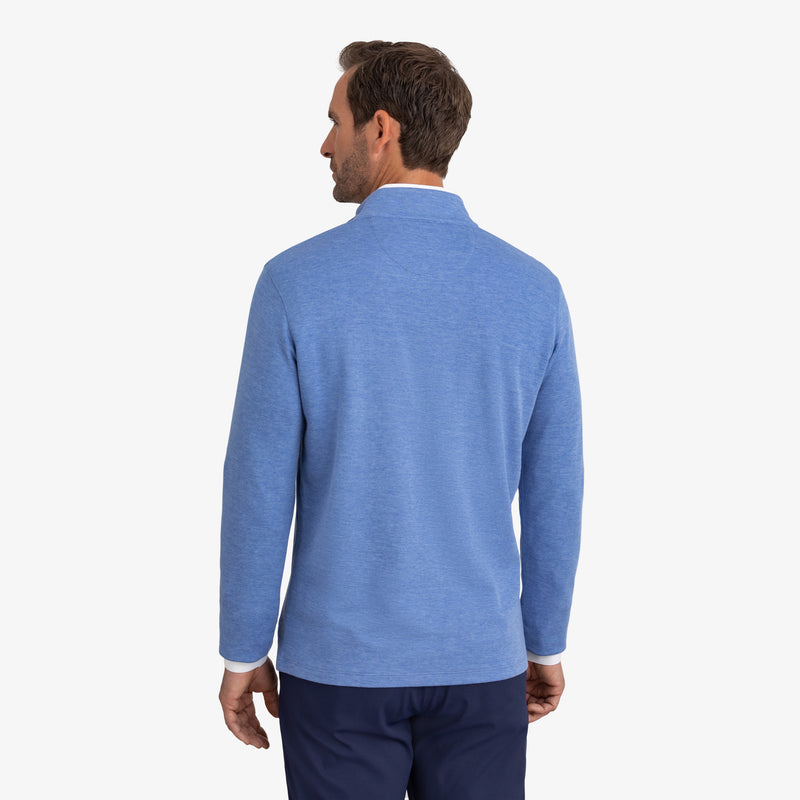 Fairway Pullover - Light Blue Heather, lifestyle/model