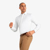 Spinnaker Dress Shirt - White Herringbone, lifestyle/model photo