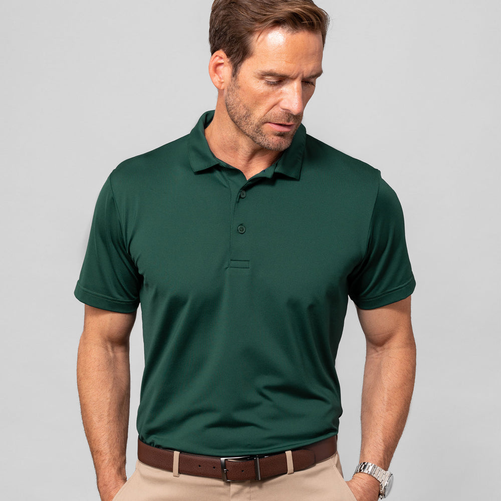 Phil Mickelson Golf Polo - Dark Green, lifestyle/model photo