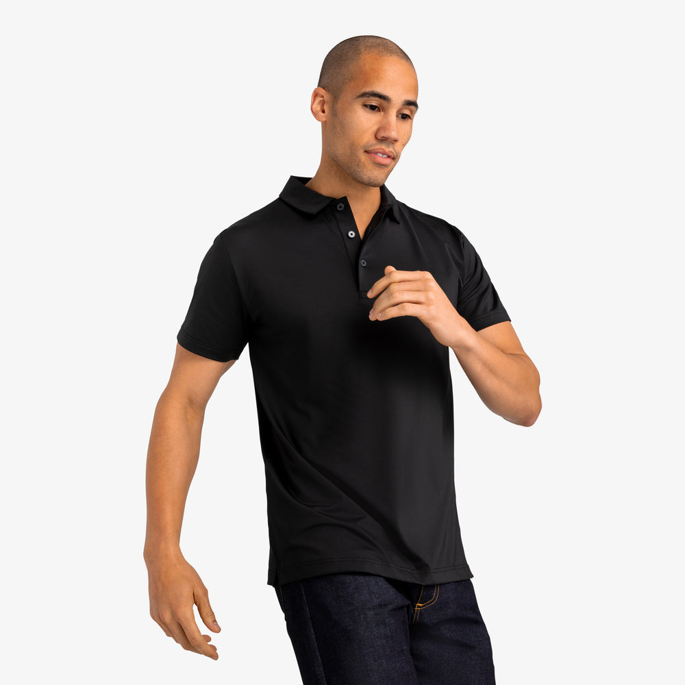 Phil Mickelson Polo - Black, lifestyle/model photo