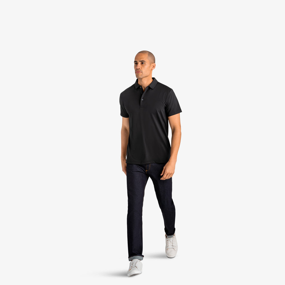 Phil Mickelson Golf Polo - Black, lifestyle/model photo