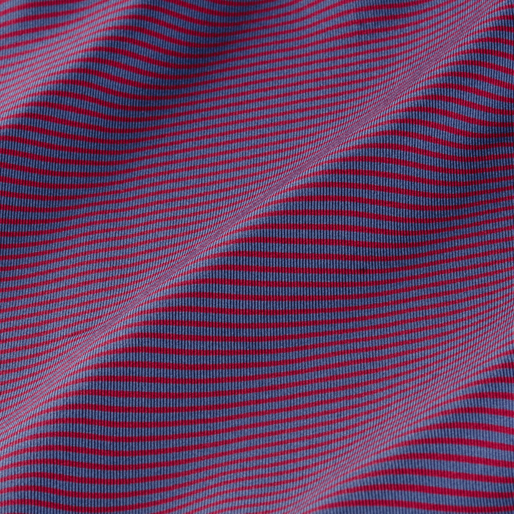Phil Mickelson Golf Polo - Red/Blue Stripe, fabric swatch closeup