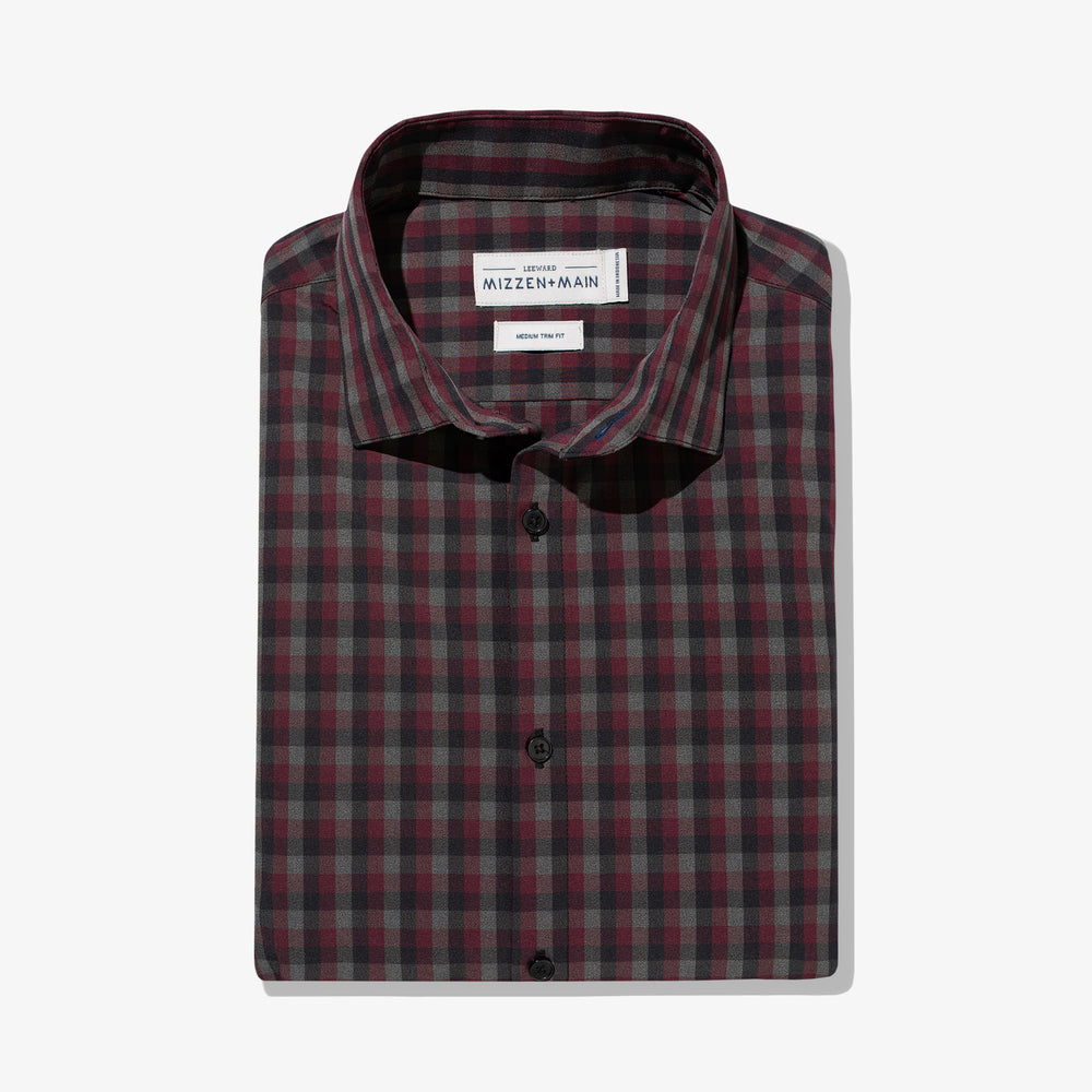 Leeward - Maroon Gray Check, featured product shot