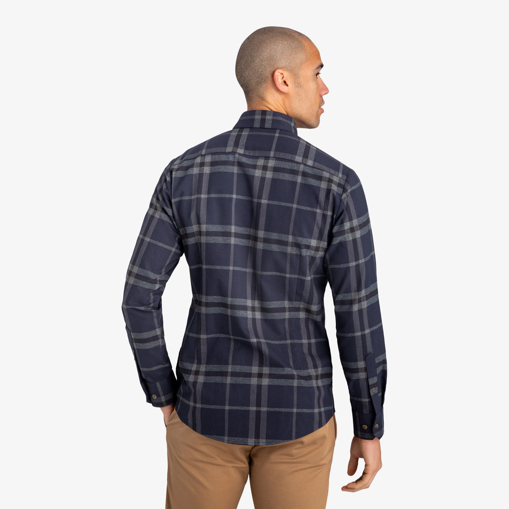 Flannel - Navy Large Check, lifestyle/model photo