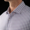 Leeward Dress Shirt - Navy Red Windowpane, lifestyle/model photo
