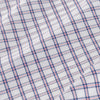 Leeward Dress Shirt - Navy Red Windowpane, fabric swatch closeup