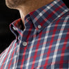 Leeward Short Sleeve - Red Navy Check, lifestyle/model photo