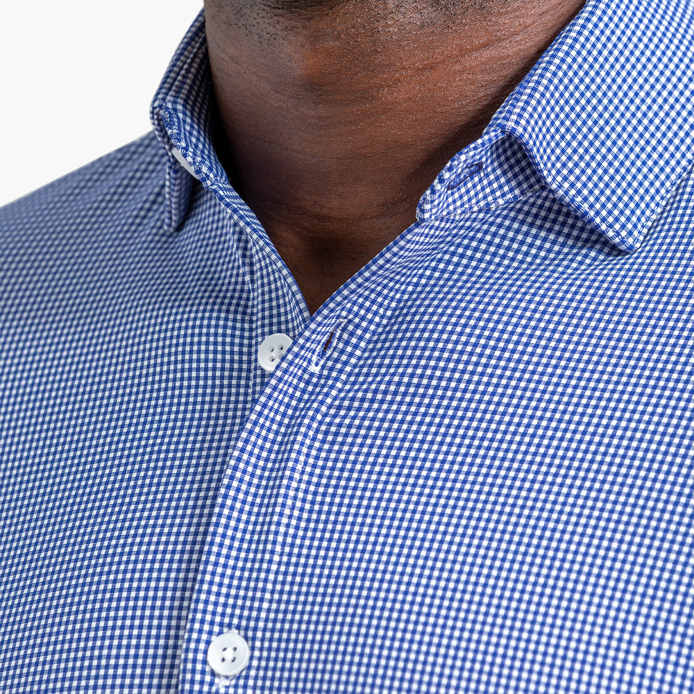 Beckett - SS Blue Gingham, lifestyle/model photo