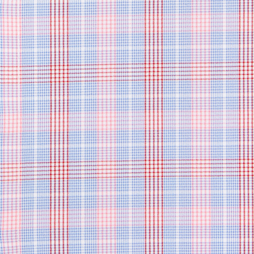 Sherman - Red Multi Plaid, fabric swatch closeup