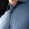 Leeward Dress Shirt - Navy Diamond Print, lifestyle/model photo