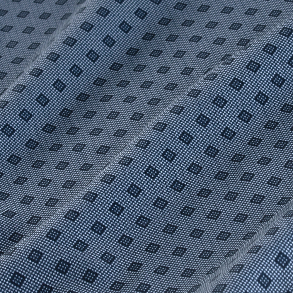 Spade - Navy Diamond Print, fabric swatch closeup
