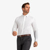 Leeward Formal Dress Shirt - White Solid, lifestyle/model photo