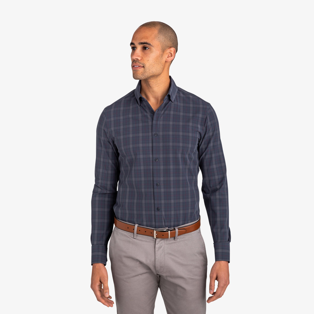 Leeward - Navy Multi Plaid, lifestyle/model photo