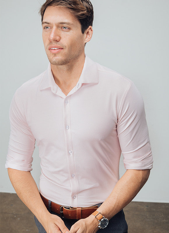 """James"" Light Pink Gingham"