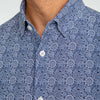Leeward Dress Shirt - Navy Floral Print, lifestyle/model photo