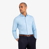 Spinnaker Dress Shirt - Light Blue Gingham, lifestyle/model photo