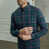 Flannel Dress Shirt - Green Multi Plaid Flannel, lifestyle/model photo