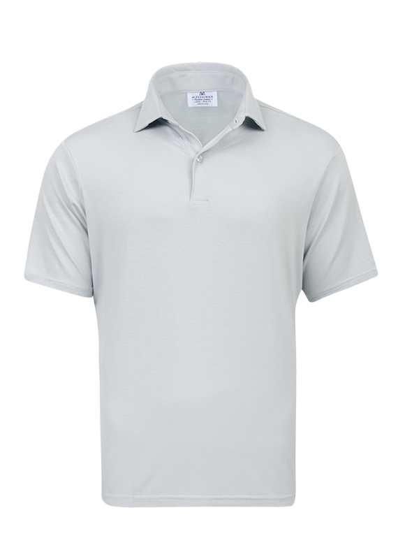 """Affirmed"" Light Gray Performance Polo Shirt"