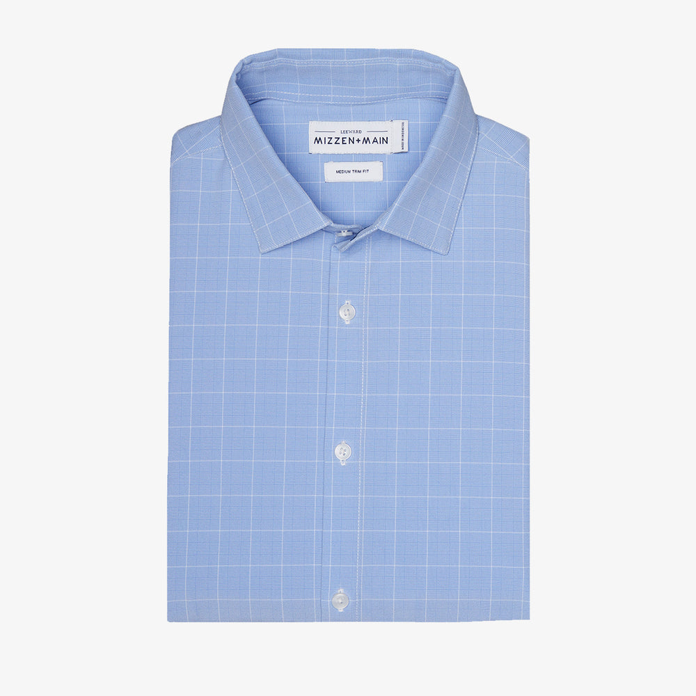 Leeward - Blue Chambray Plaid, featured product shot