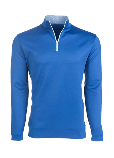 """Aspen"" Dark Blue Performance Quarter Zip Pullover"