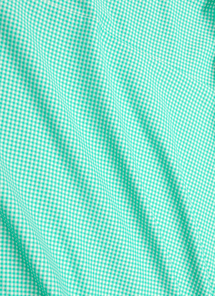 """Beaufort"" Bright Green Gingham Performance Dress Shirt"