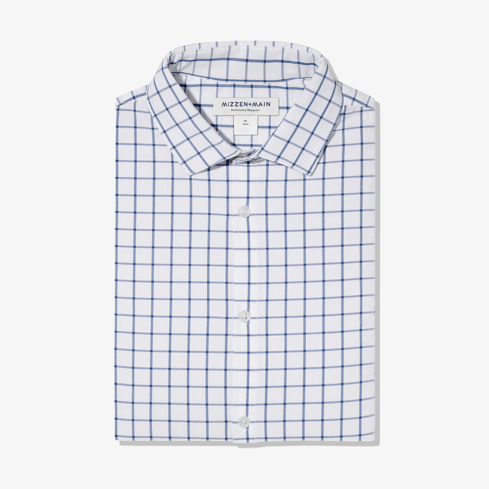 Leeward Dress Shirt - Dark Blue Windowpane, featured product shot
