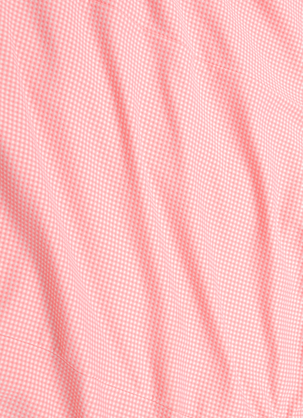 """Captiva"" Bright Coral Gingham Performance Dress Shirt"