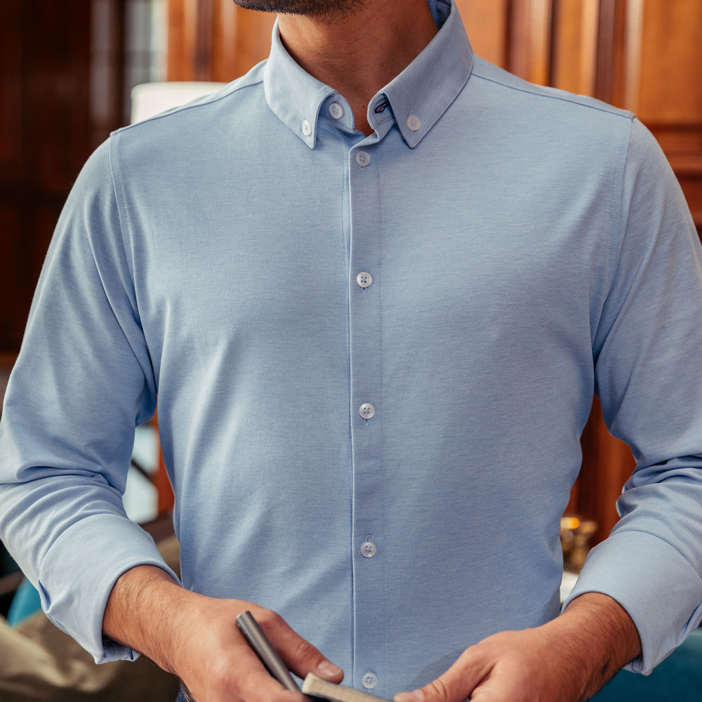 Bryant - Light Blue Knit, lifestyle/model photo