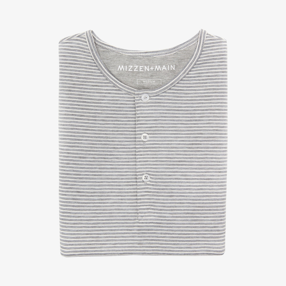 Henley Henley - Light Gray Horizontal Stripe, featured product shot