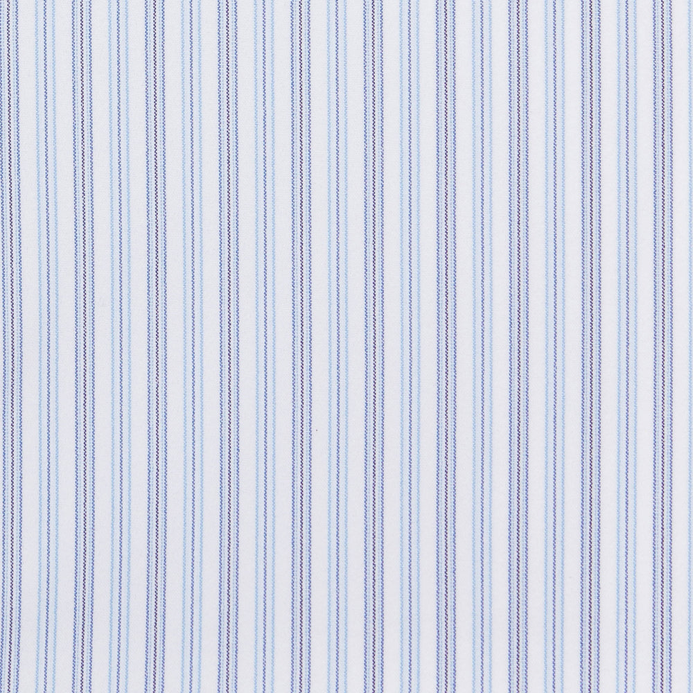 Hodges - Blue Stripe, fabric swatch closeup