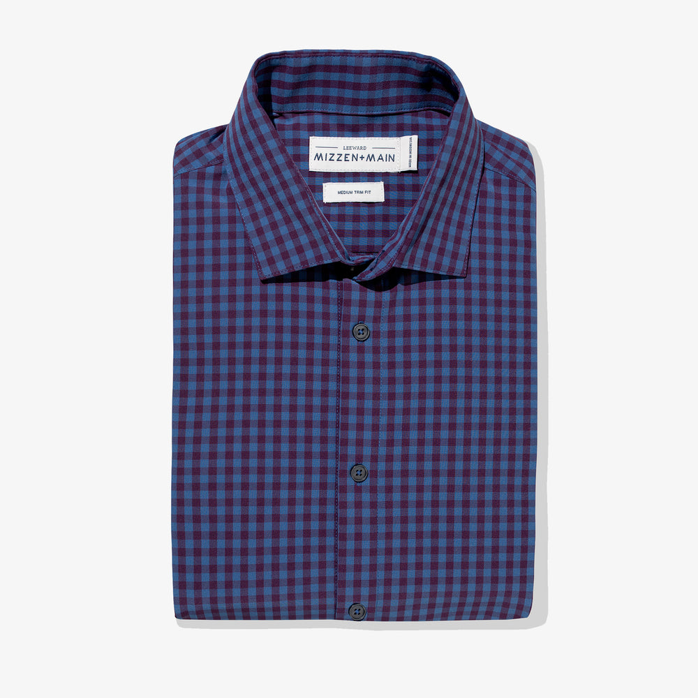 Holmes - Blue Burgundy Mutli Gingham, featured product shot