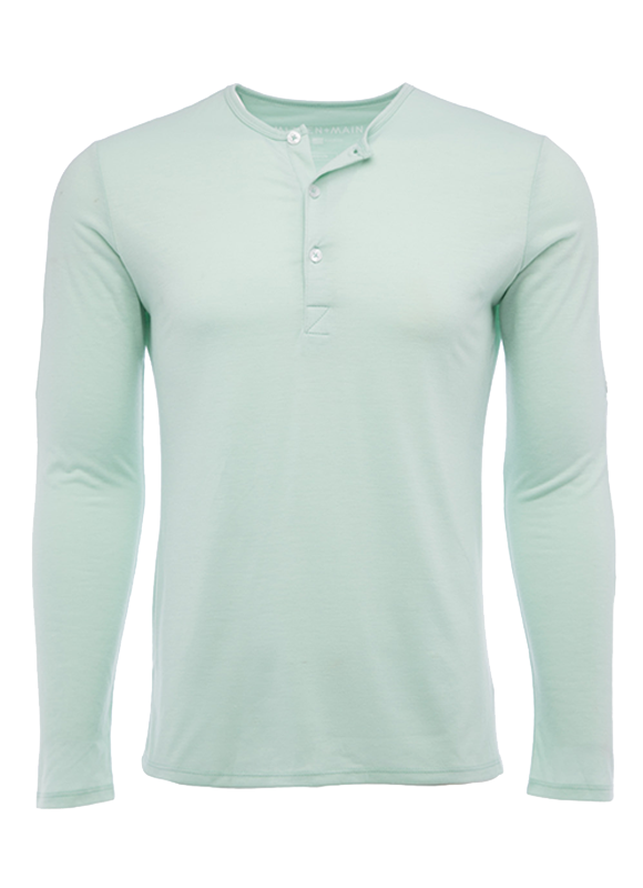"""Hopi"" Dusty Aqua Henley"