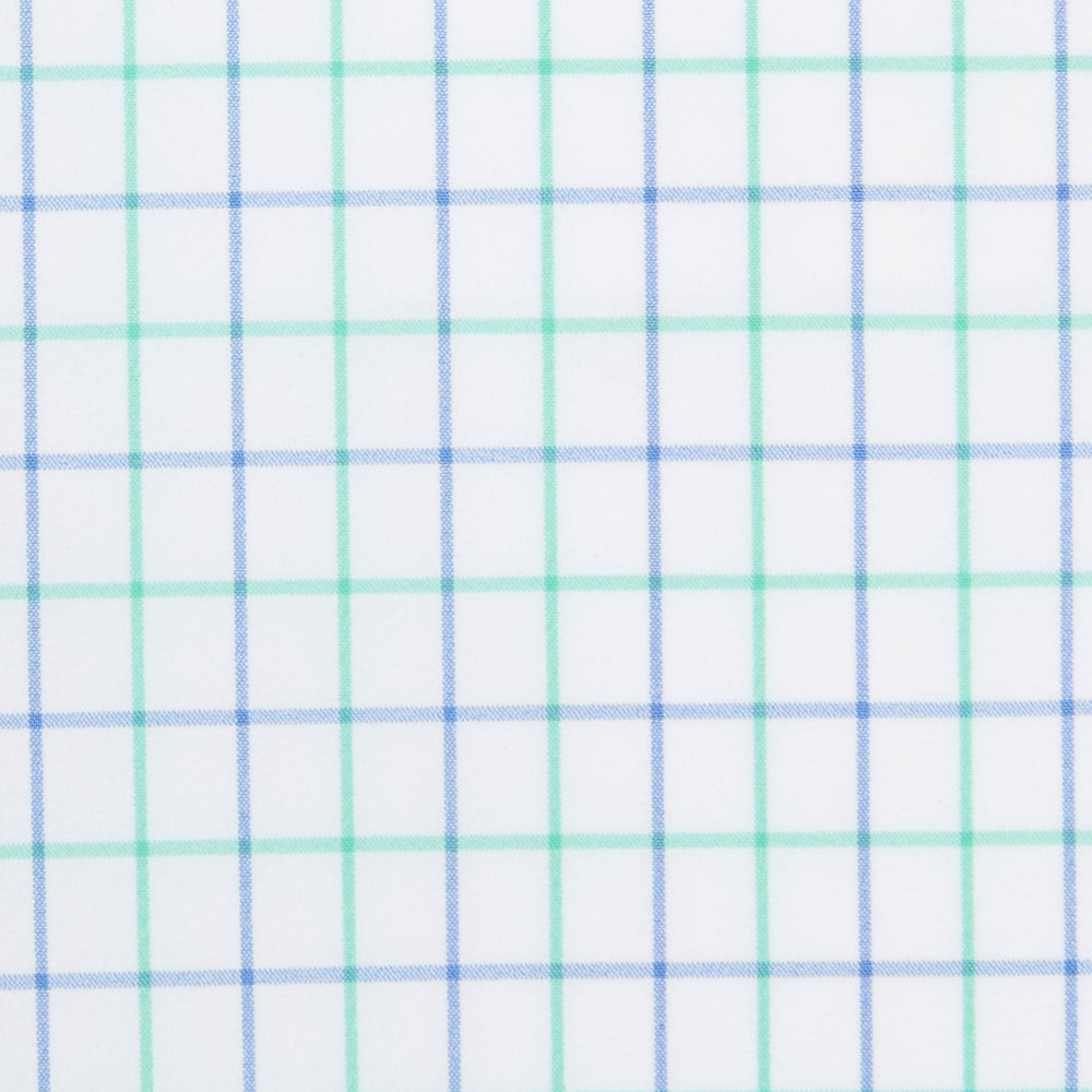 Leeward - Light Green Check, fabric swatch closeup