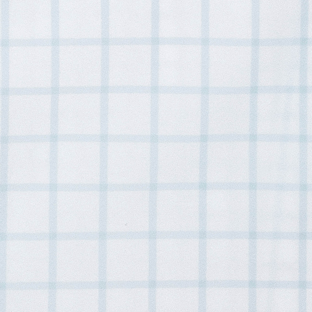 Hull - Blue Windowpane, fabric swatch closeup