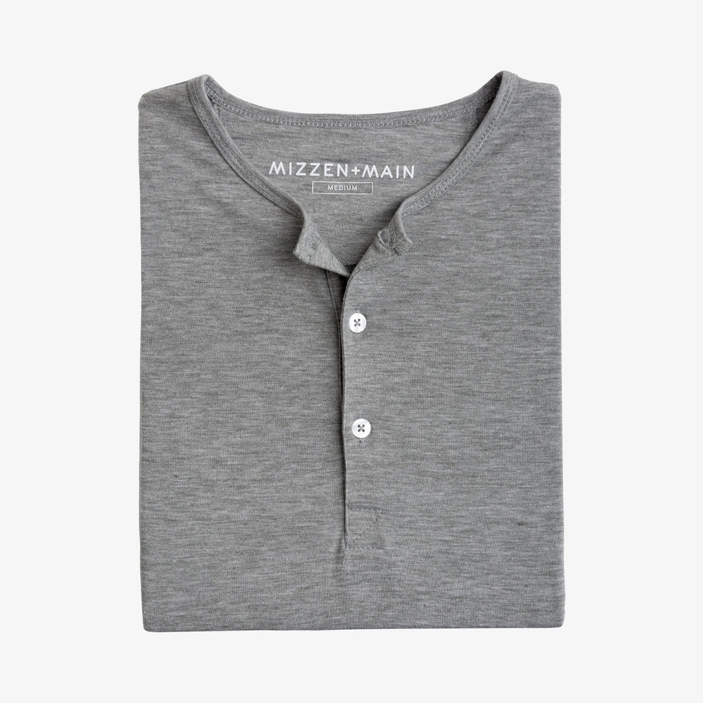 Inca - Heather Gray Henley, featured product shot