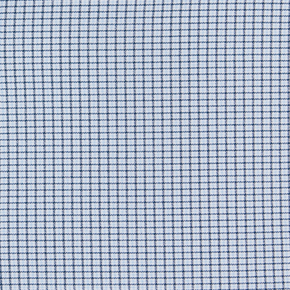 Textured - Navy Houndstooth Check, fabric swatch closeup