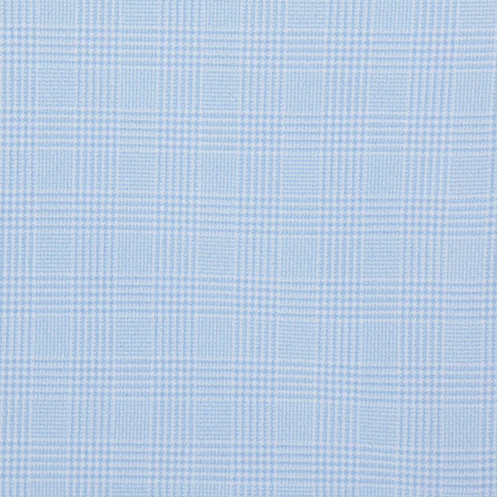 McKellen - Light Blue Glen Plaid, fabric swatch closeup