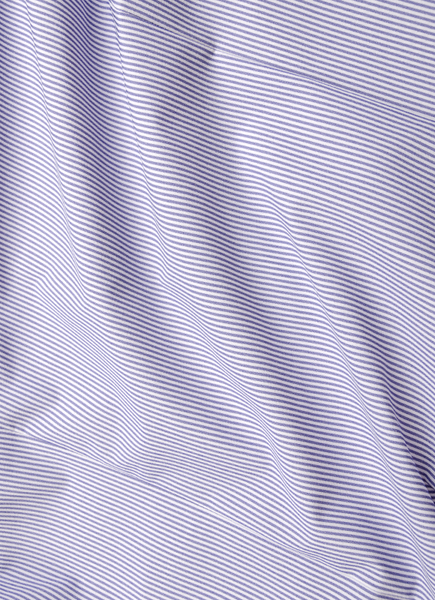 """Norfolk"" Blue Pinstripe Performance Dress Shirt"