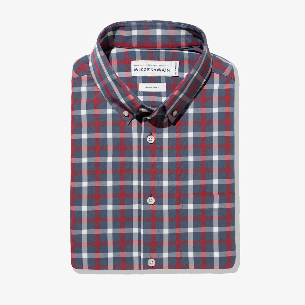 Leeward - Red Navy Check, featured product shot