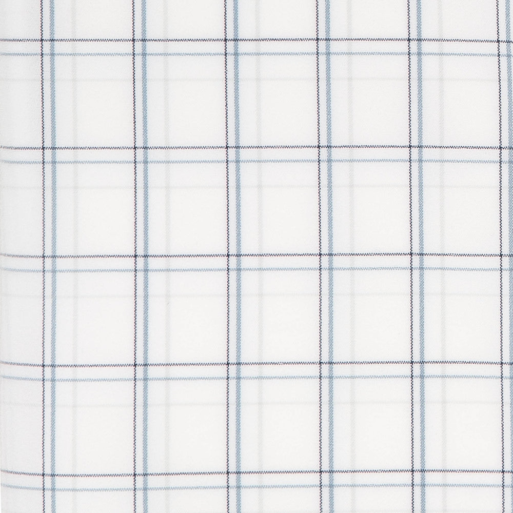 Sanders - Blue White Multi Plaid, fabric swatch closeup