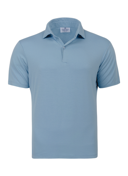 """Secretariat"" Soft Blue Performance Polo Shirt"