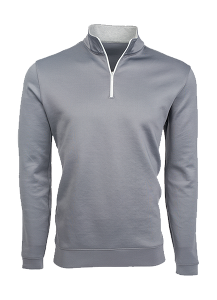 """Sequoia"" Gray Performance Pullover Quarter Zip"