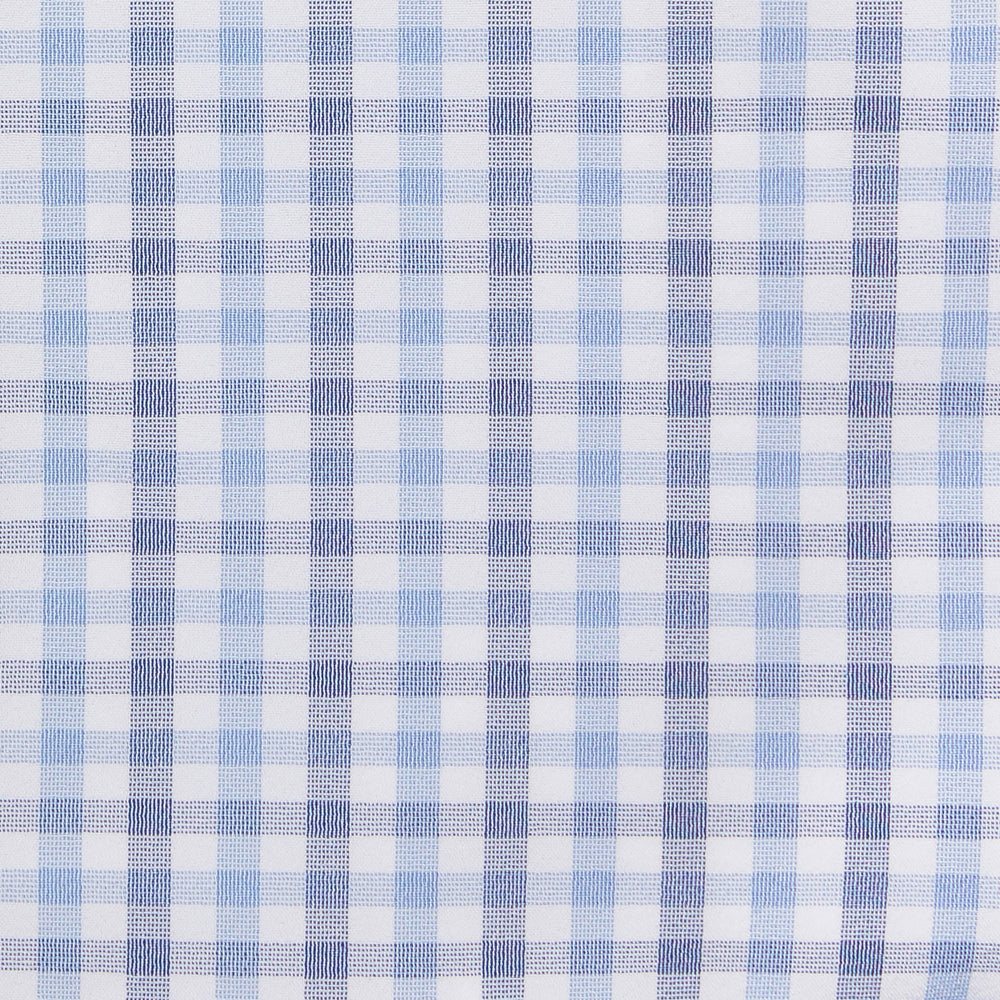 Leeward - Blue Multi Check, fabric swatch closeup
