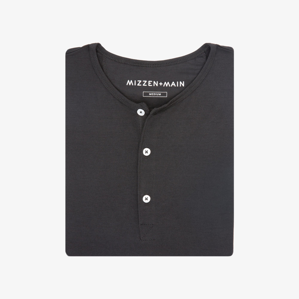Henley - Black Short Sleeve Henley, featured product shot