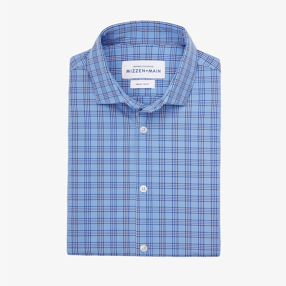 Leeward Dress Shirt - Light Blue Multi Check, featured product shot